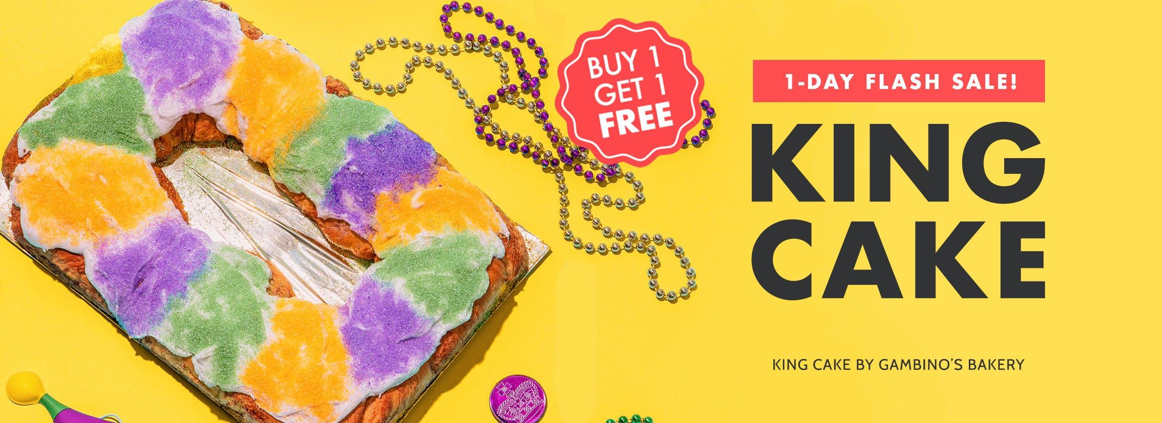 Mardi Gras King Cake BOGO