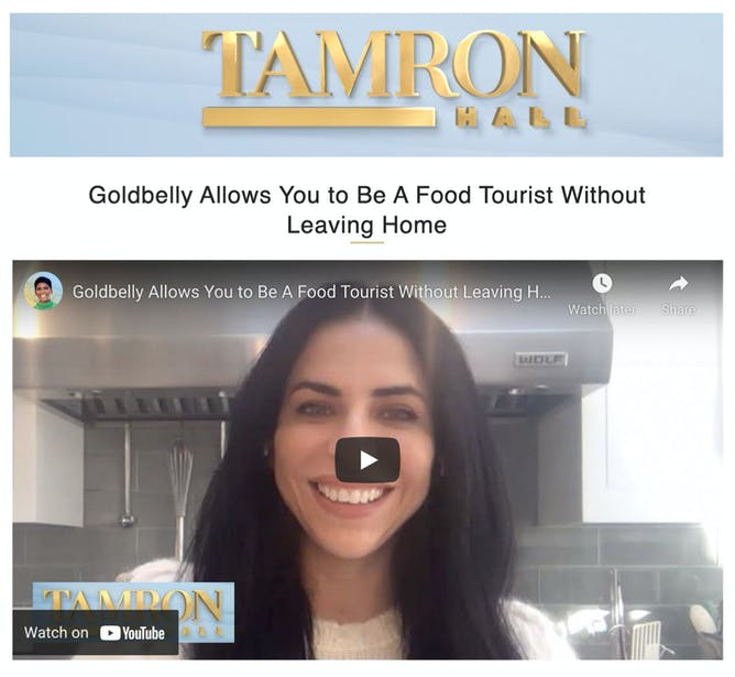 Goldbelly CPO Vanessa Ariel on Tamron Hall  article thumbnail