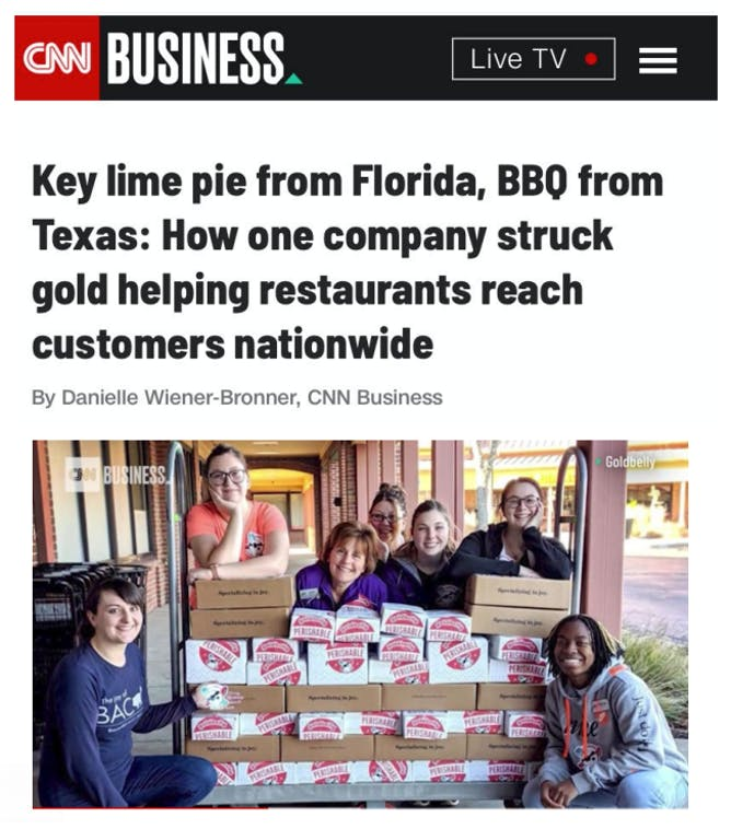 Goldbelly Doubles Its Restaurant Count in 2020 article thumbnail