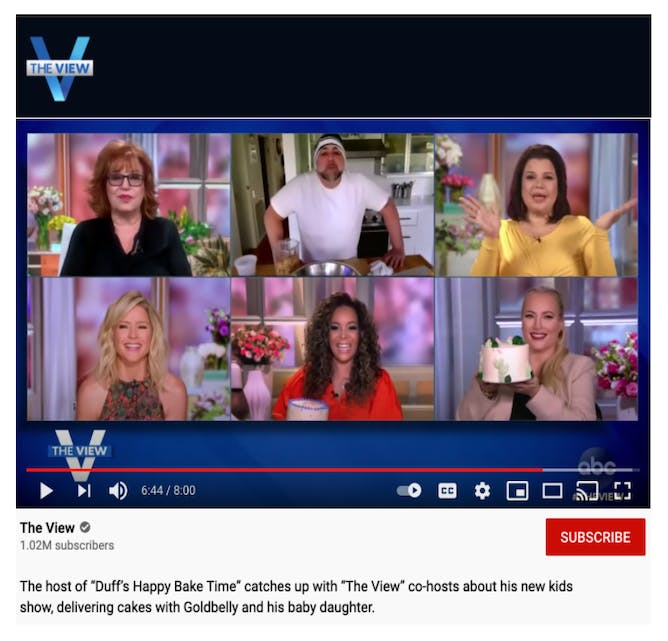 """Duff Goldman & The Hosts of """"The View"""" Talk Goldbelly article thumbnail"""