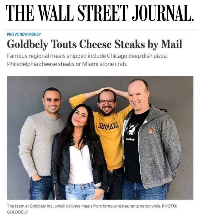Goldbelly Founders Featured in WSJ article thumbnail