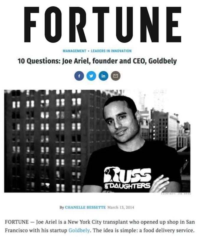 Q&A With Goldbelly Founder & CEO Joe Ariel article thumbnail