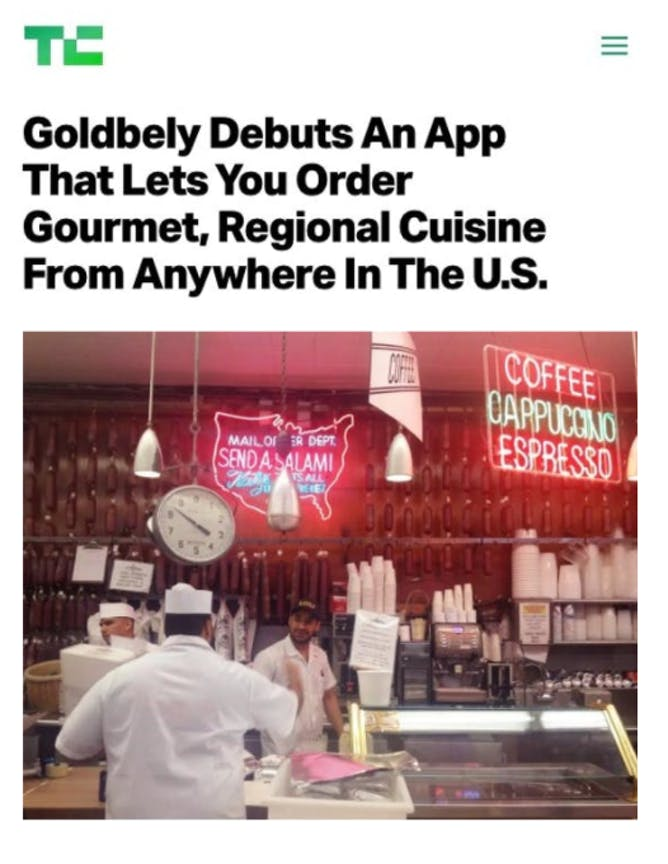 Goldbelly's New App article thumbnail