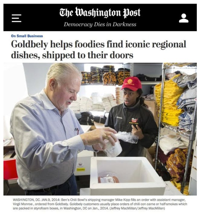 Goldbelly Helps Foodies Find Iconic Regional Dishes article thumbnail