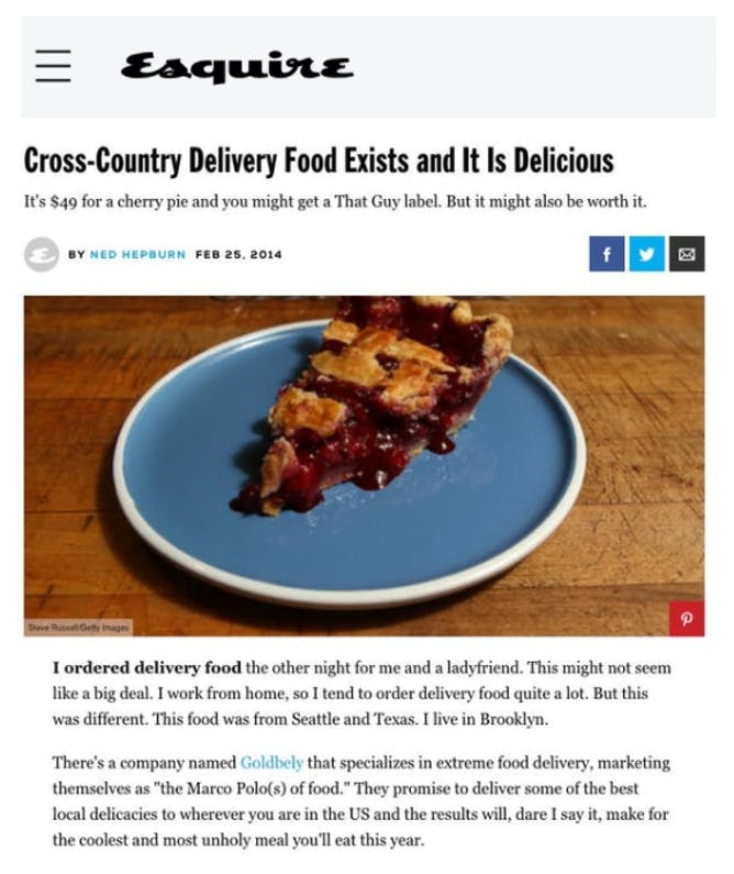 Esquire Orders Cross-Country Delivery article thumbnail