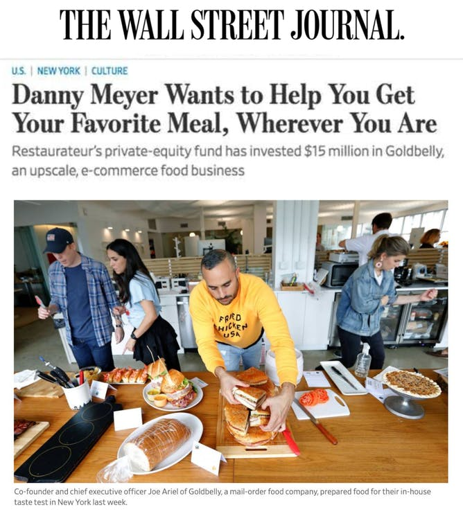Goldbelly Featured in WSJ article thumbnail