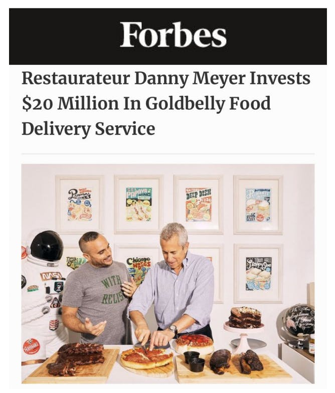 Danny Meyer Invests in Goldbelly article thumbnail