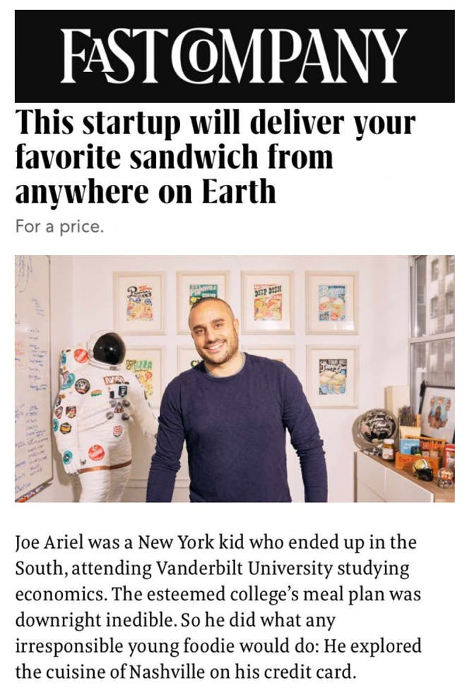 Goldbelly Featured in Fast Company article thumbnail