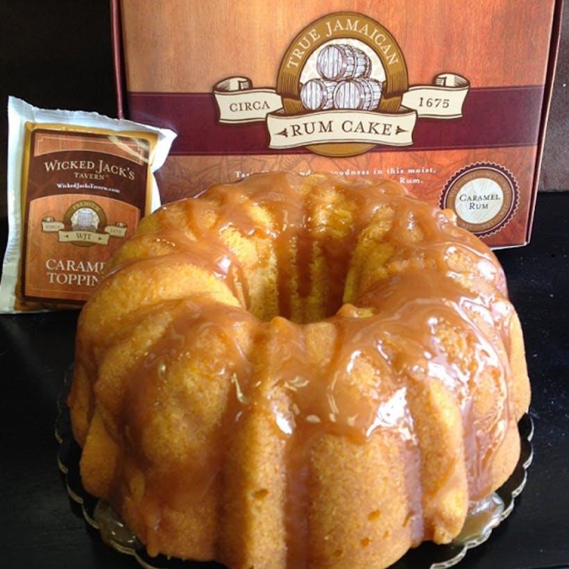Wicked Jacks Caramel Rum Cake