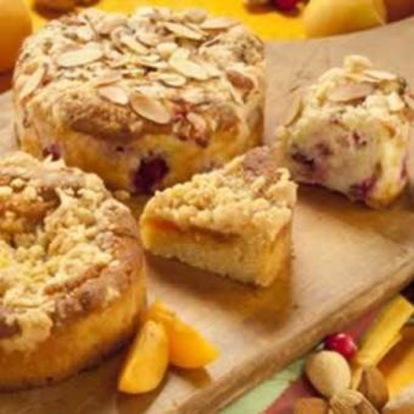 Gluten-Free Cranberry Almond/Apricot Coffee Cakes