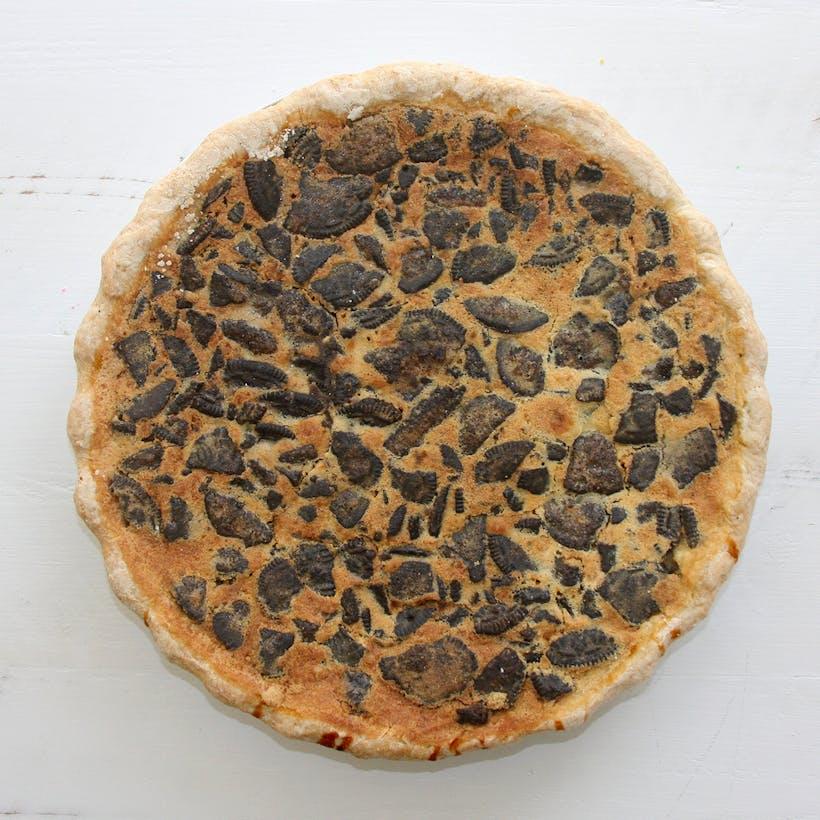 Cookies and Cream Pancake Pie