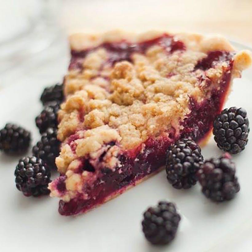 Marionberry Crunch Pie