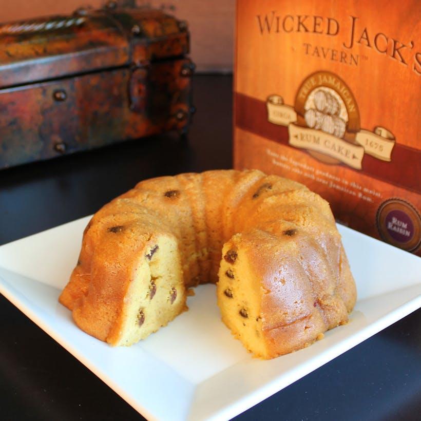 Wicked Jack's Rum Raisin Cake