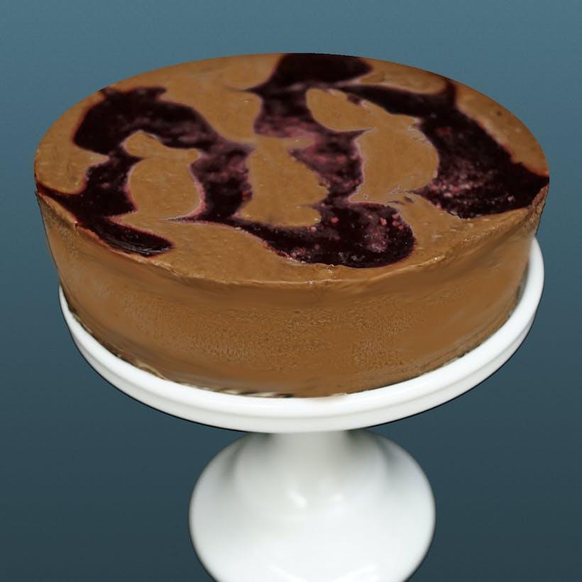 """Raspberry Chocolate Cheesecake - 6"""""""
