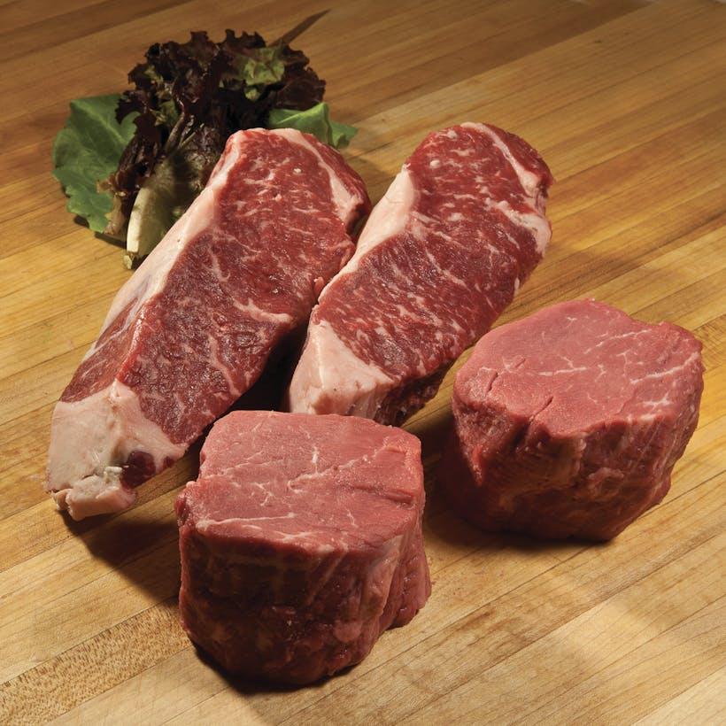 USDA Prime Filet Mignon + Sirloin Steak Combo