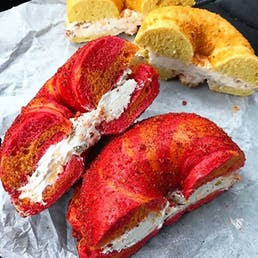 Overloaded Cheetos® Flamin Hot® Bagels + Cream Cheese