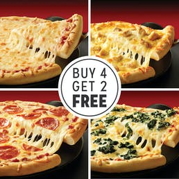 Buy 4 Pizzas, Get 2 Free