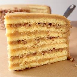 7 Layer Caramel Praline Cake