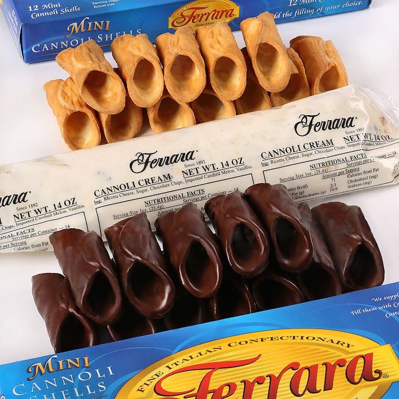 Holy Cannoli Combo 12 Mini Original + 12 Mini Chocolate Covered