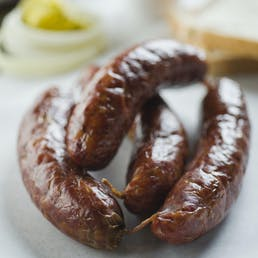 Chopped Brisket Sandwich Kit for 8 + 8 Original Sausage Links