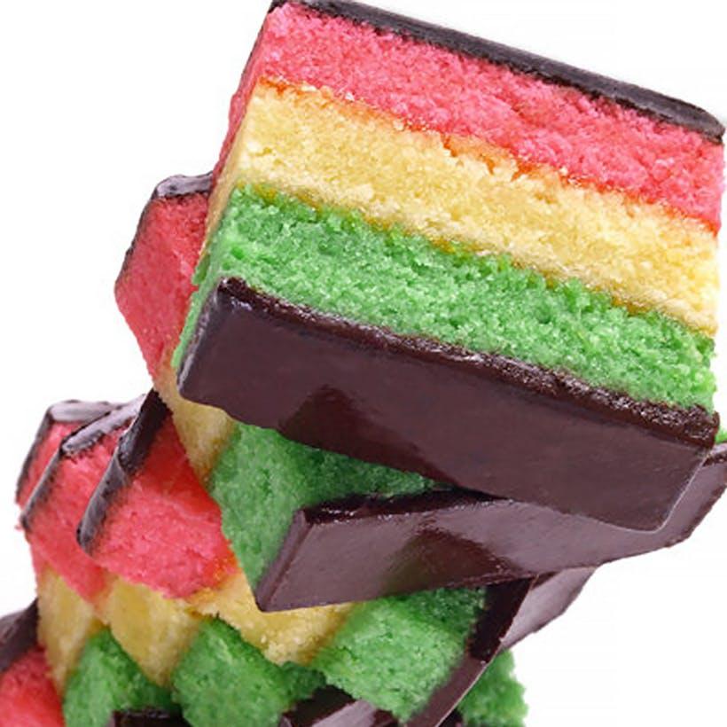 Hand Dipped Rainbow Cookies - 3 Pack (Kosher)