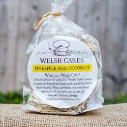Pineapple and Coconut Welsh Cakes - 3 Pack