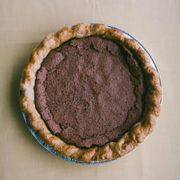 Cocoa Crackle Chocolate Chess Pie