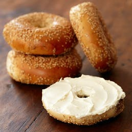 One Dozen Bagels with Cream Cheese