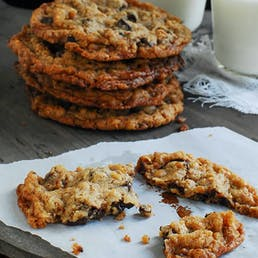 Giant Summer Camp Chocolate Chip Cookies