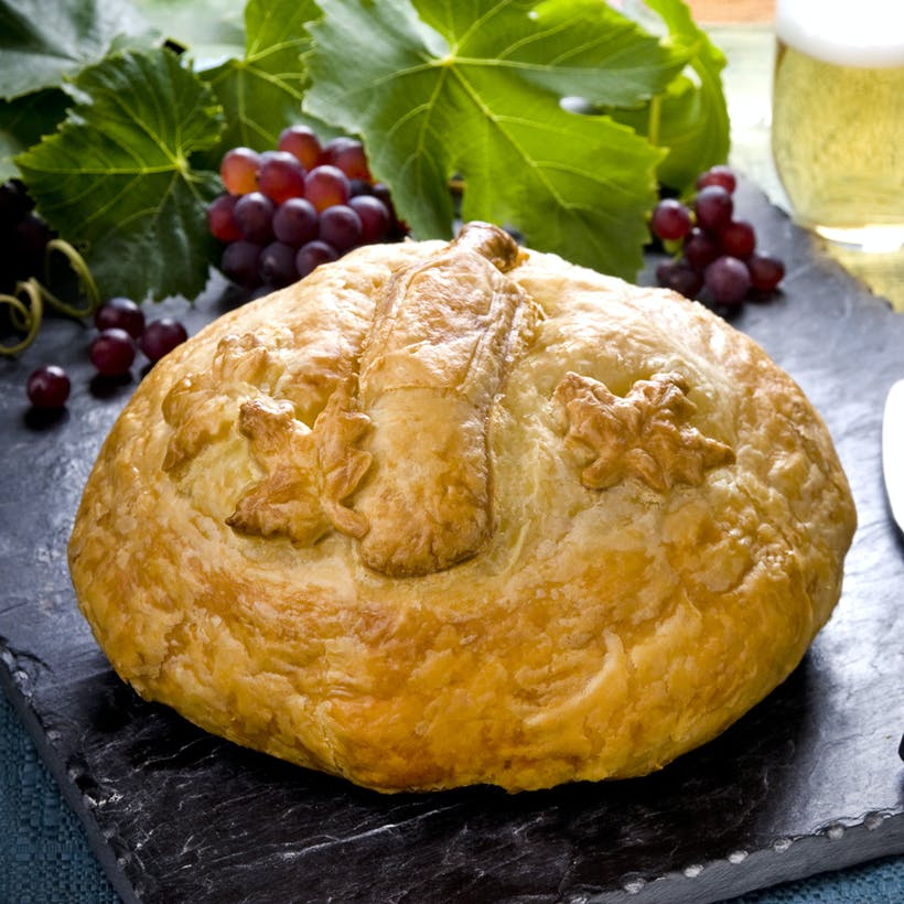 Wine Bottle Baked Brie