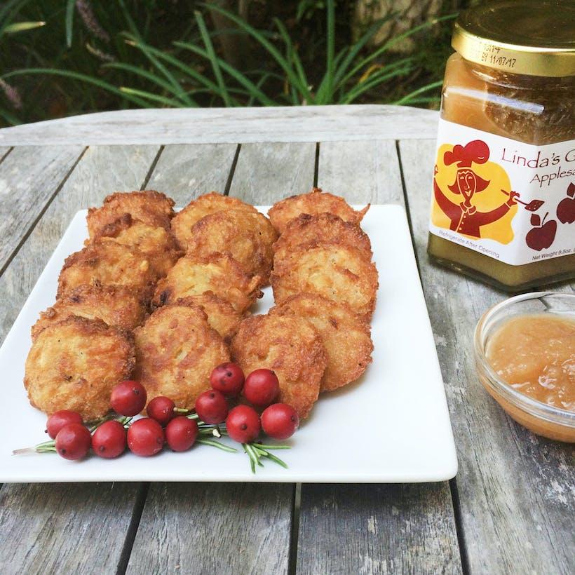 Latkes With Love Bite Sized Latkes + Applesauce