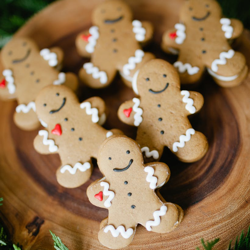 Gingerbread Man Cookie Sandwiches
