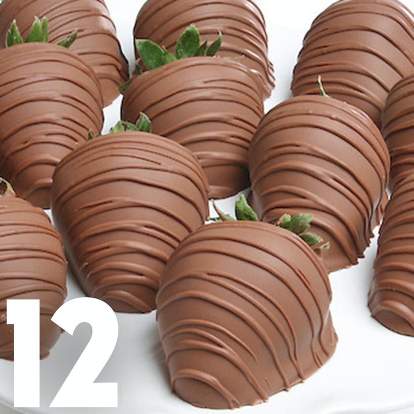 Milk Chocolate Covered Strawberries - 12 Pack