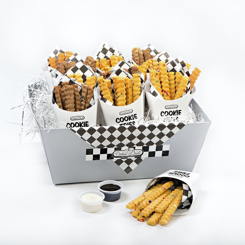 Cookie Fries Silver Basket - 12 Cartons