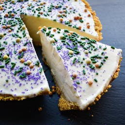 Mardi Gras Ice Cream Pie