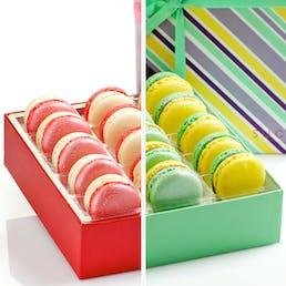 Mardi Gras + Valentines Day Macarons