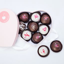 Valentine's Cruffle Heart Gift Box - 10 Piece