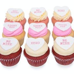 Valentine's Conversation Heart Cupcakes