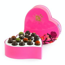 Dark Truffle Heart Collection - 16 Pieces
