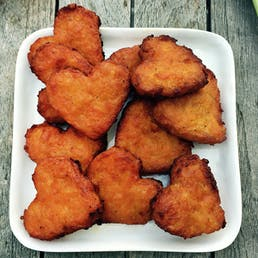 Heart Shaped Large Sweet Potato Latke - 20 Pack