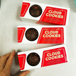 Gold Marshmallow Cloud Cookies - 20 Pack