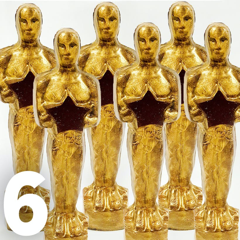Gold Chocolate Statues - 6 Pack