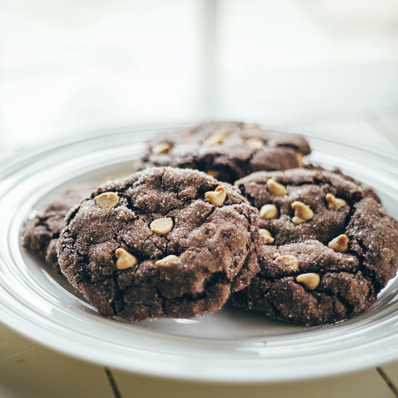 Chocolate Peanut Butter Porter Cookies