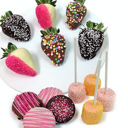 Spring Chocolate Covered Strawberry Trio - 14 Pack