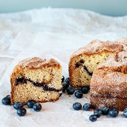 Maine Blueberry Sour Cream Coffee Cake