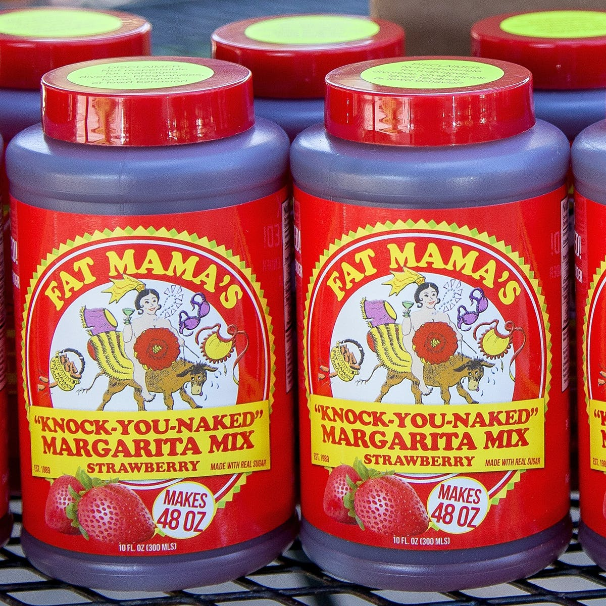 Knock You Naked Strawberry Margarita Mix By Fat Mama S Tamales Goldbelly