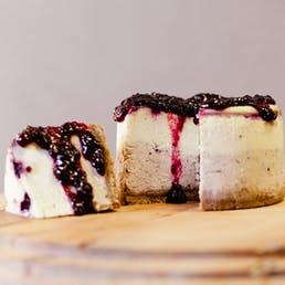 Montana Huckleberry Cheesecake