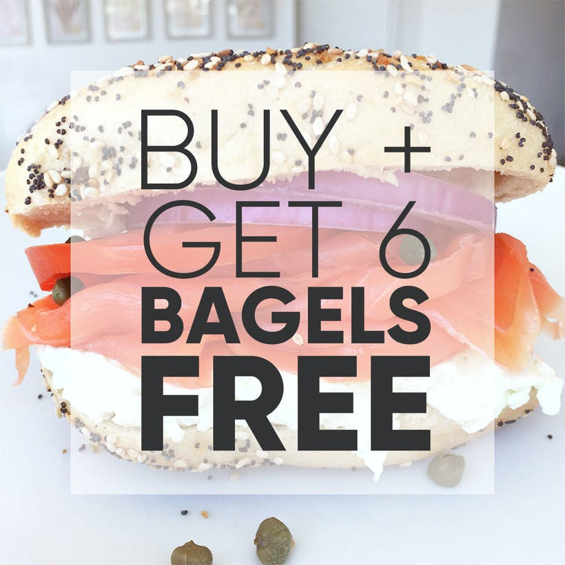 NY Bagel Brunch for 6 with Lox & Cream Cheese + 6 More Bagels FREE