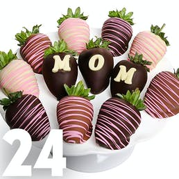 Mother's Day Chocolate Covered Strawberries - 24 Pack