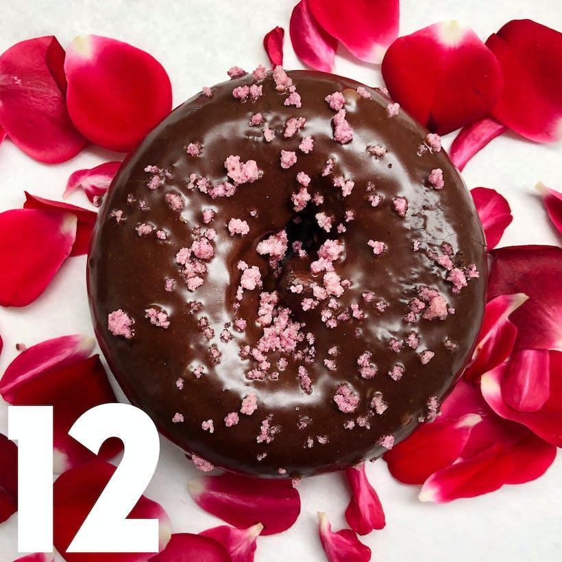 Valrhona Rose Cake Doughnuts - 12 Pack